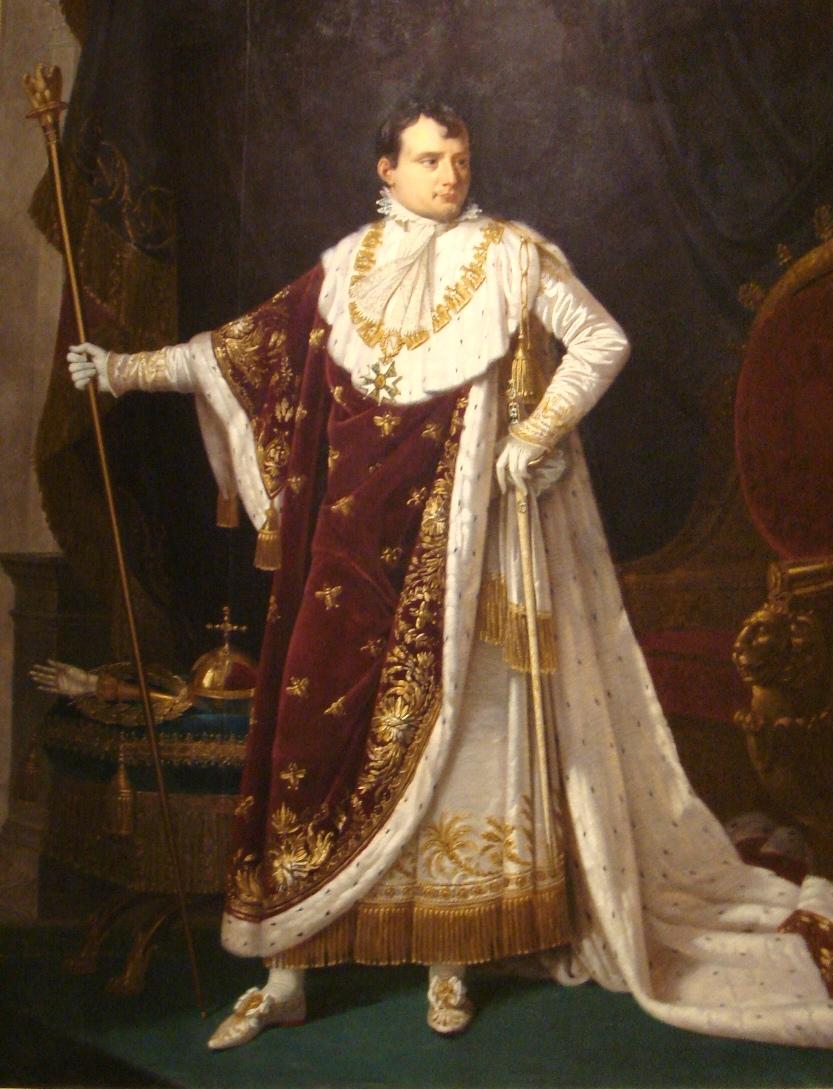 Портрет кисти Робера Лефевра: Император Наполеон — Великий магистр ордена Почётного легиона в коронационной мантии с Большой нагрудной цепью ордена