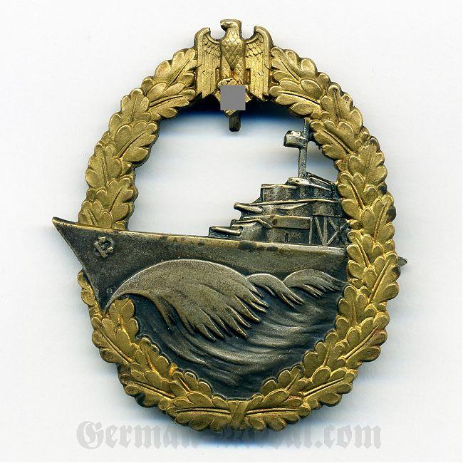 Знак член эсминца миноносца клеймо fo